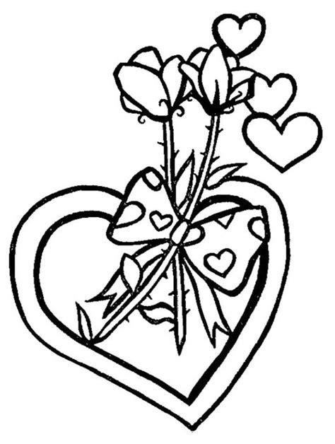 imagenes de rosas y corazones para colorear corazones y rosas dibujalia dibujos para colorear