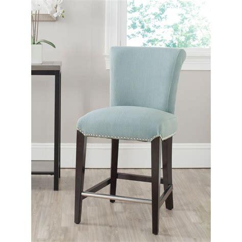 blue bar stools kitchen furniture safavieh seth 25 9 in sky blue cushioned bar stool mcr4509h the home depot
