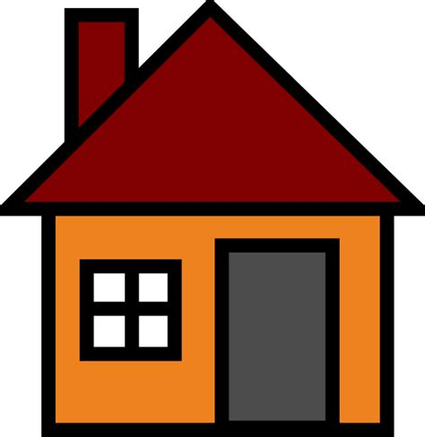 clipart home orange house clip at clker vector clip