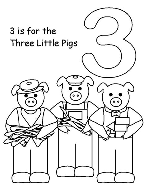 printable coloring pages three little pigs printable coloring pictures of the three little pigs