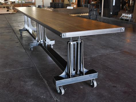 post industrial conference table vintage industrial