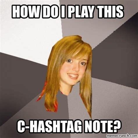 Hash Tag Memes - c hashtag note
