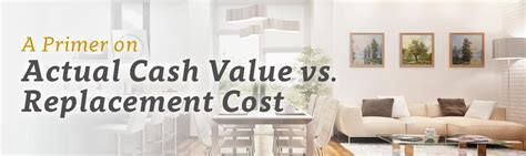 a primer on actual value vs replacement cost