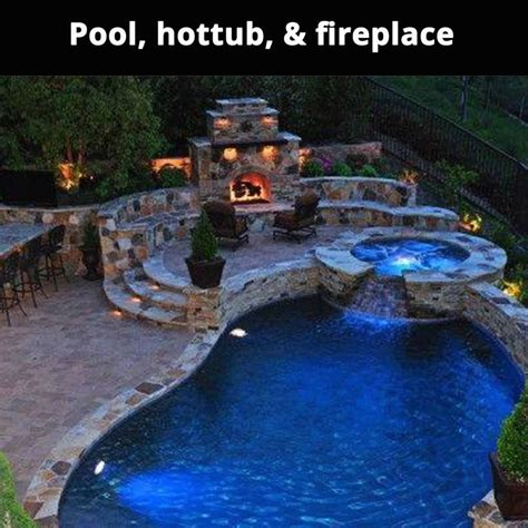 Spa And Fireplace by Pool Tub And Fireplace Pictures Photos And Images