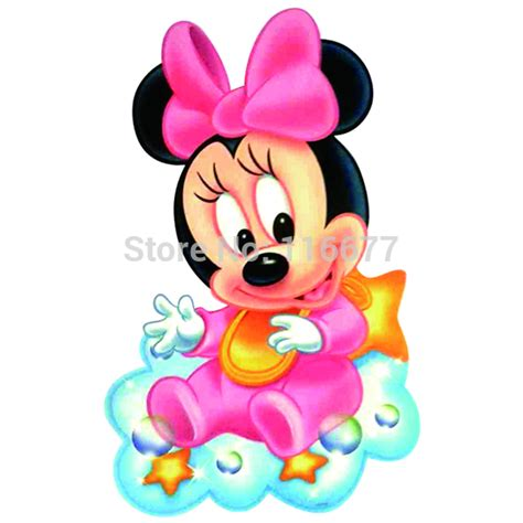 10pcs of lovely baby minnie mouse sitting on a cloud iron