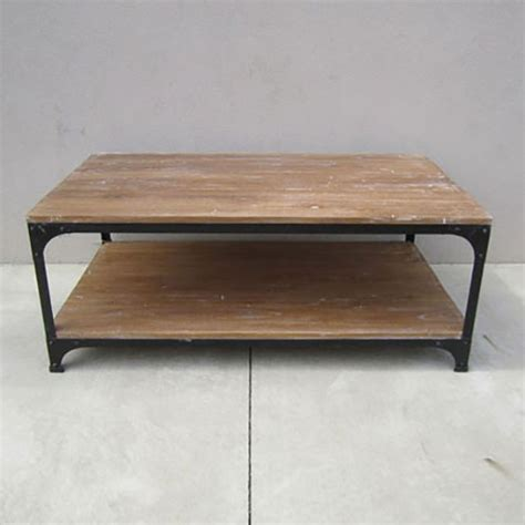wood and iron coffee table iron and wood coffee table nadeau alexandria