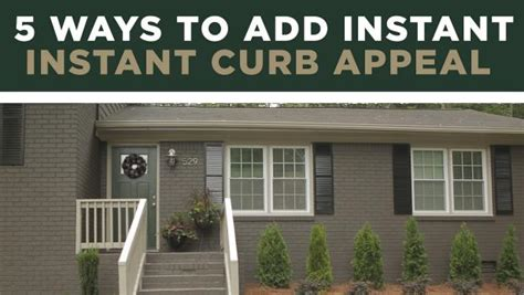 ways to add curb appeal 5 ways to add instant curb appeal hgtv