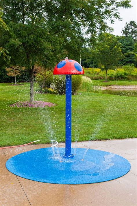 backyard water play portable splash pad water play feature splash