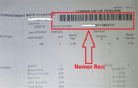 cek status pengiriman jne menggunakan nomor resi