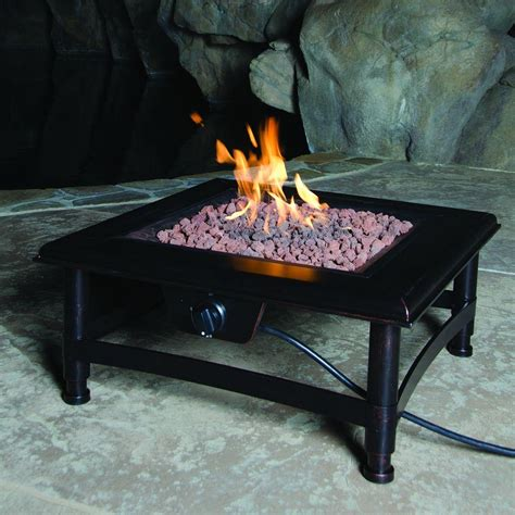 Metal Propane Pit Bond Manufacturing Titan 34 In Square Steel Propane