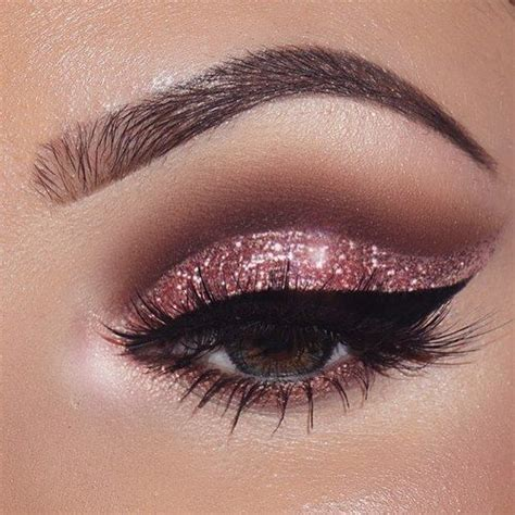 Eyeshadow Shimmer pink sparkly eye makeup sparkly eye