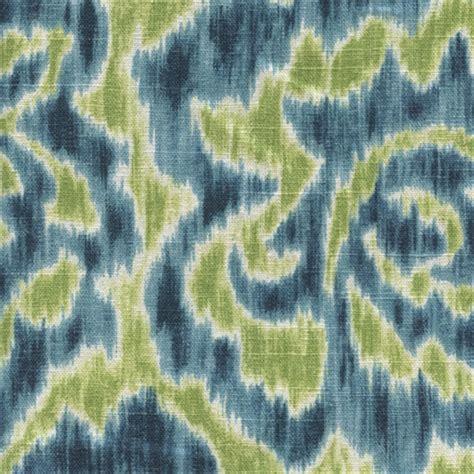 Ikat Upholstery Fabric by Jacklyn 601 Aqua Green Ikat Drapery Fabric By Duralee 32424