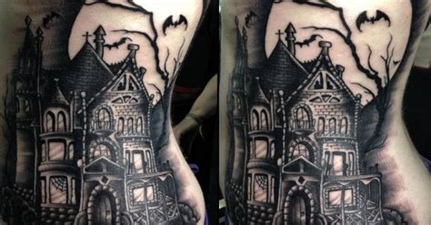 tattoo convention evansville 14 creepy cool haunted house tattoos inkedd tatoo
