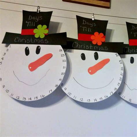 snowman countdown to christmas craft crafty morning