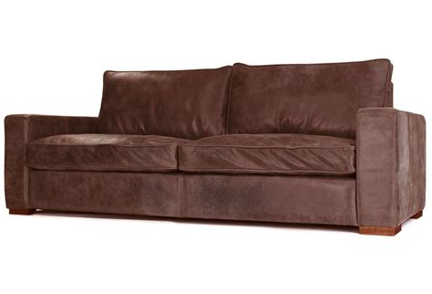 battersea rustic leather 2 seater sofa from boot sofas