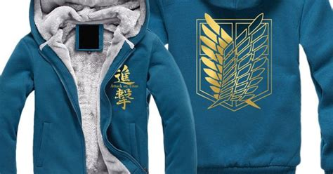 Sweater Attack On Titan Hitam Navy T0210 attack on titan hoodie blue attack on titan t shirts attack titan and wings