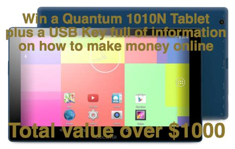 How To Make Money With An Online Radio Station - win a quantum 1010n tablet plus a usb key full of information on quot how to make money