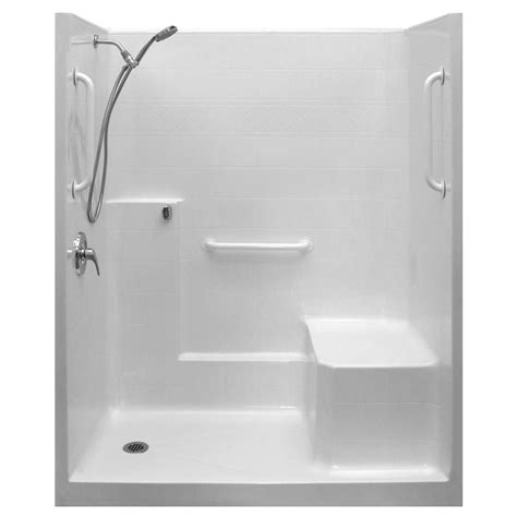 Left Drain Shower Kit by Ella Ultimate Wsa 36 In X 60 In X 77 In 1 Low