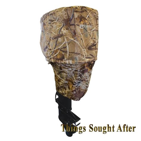 Camo Cover by Cover For Outboard Boat Motor Up To15 Hp Storage Realtree