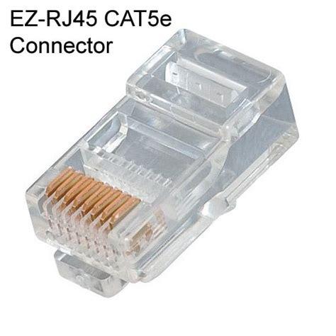 Rj45 Connector Konektor Lan Rg45 ez rj45 rj11 rj12 connectors cableorganizer