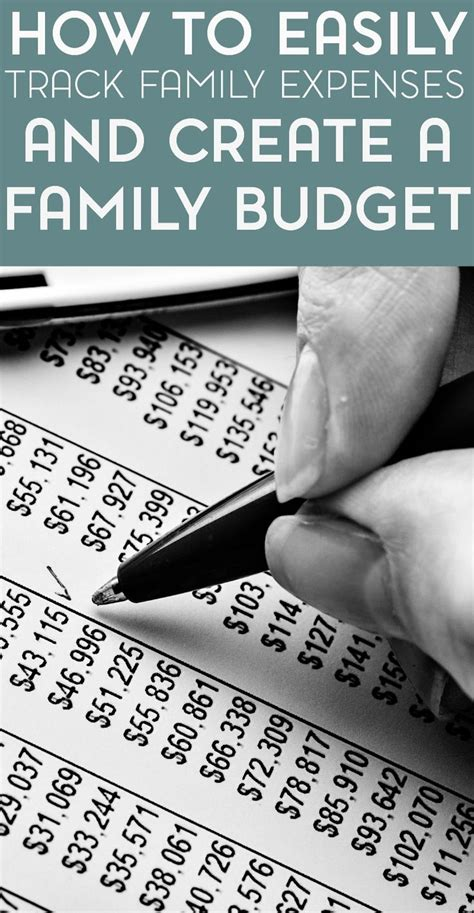 easy ways  track expenses   family budget