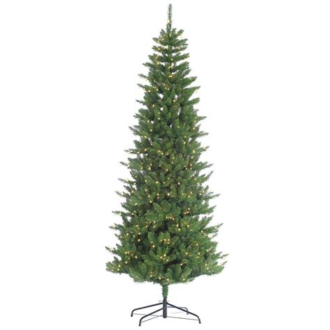 sterling 9 ft pre lit narrow augusta pine artificial