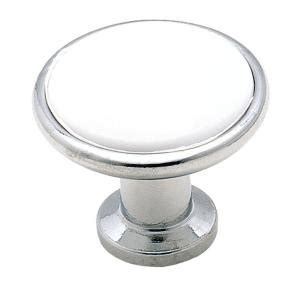 white and chrome cabinet knobs amerock 1 3 16 in white and chrome cabinet knob 14351wch