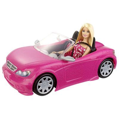 barbie toy cars buy barbie convertible car doll playset from our toys