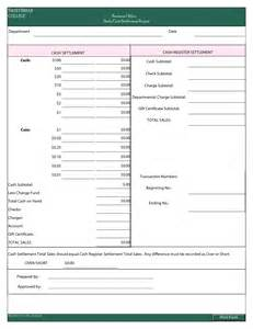 daily cash report template sample for business helloalive