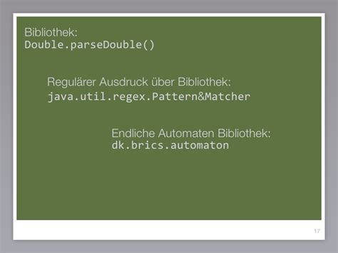 java util regex pattern von automaten zu programmen parsergeneratoren und
