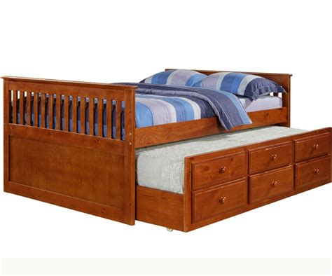 full trundle bed mission full size captains trundle bed espresso bedroom