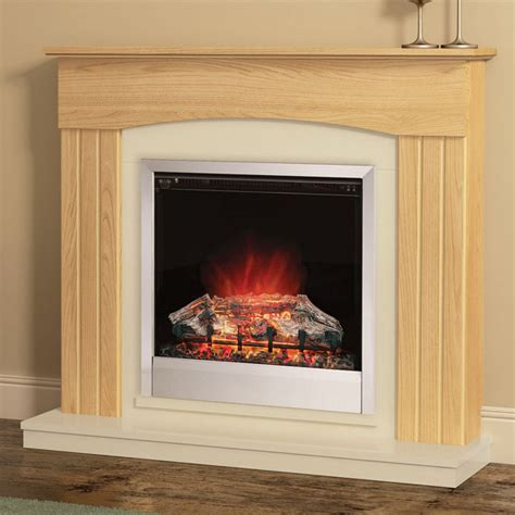 be modern linmere electric fireplace suite oak