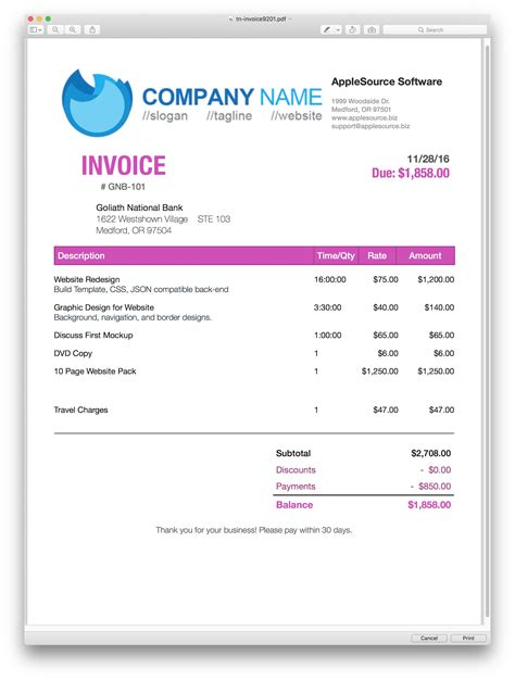 html invoice templates applesource software gt timenet invoice templates time