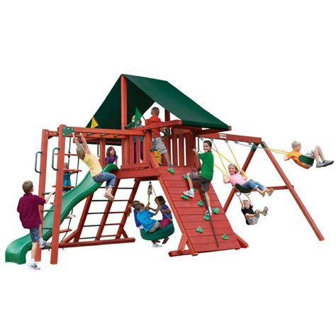 gorilla playsets sun climber ii cedar playset 01 0025