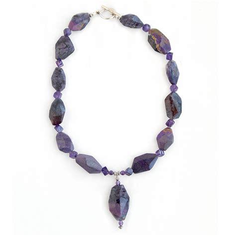 sugilite amethyst dice necklace designs