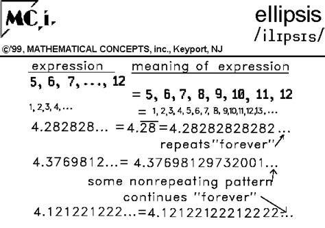 pattern and algebra meaning ellipsis