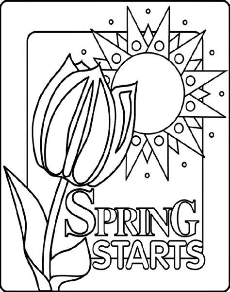 Crayola Free Coloring Pages Spring | spring starts coloring page crayola com