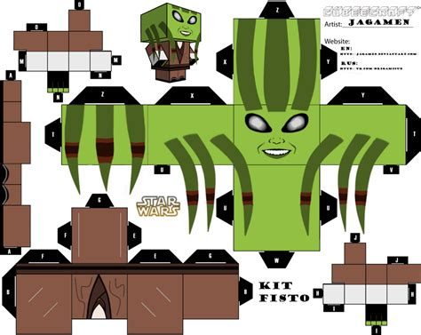 printable foldable star wars toys kit fisto cubeecraft ver 2 by jagamen on deviantart