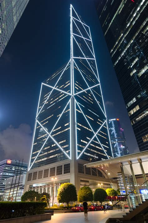 bank of china tower skyscraper in hong kong thousand