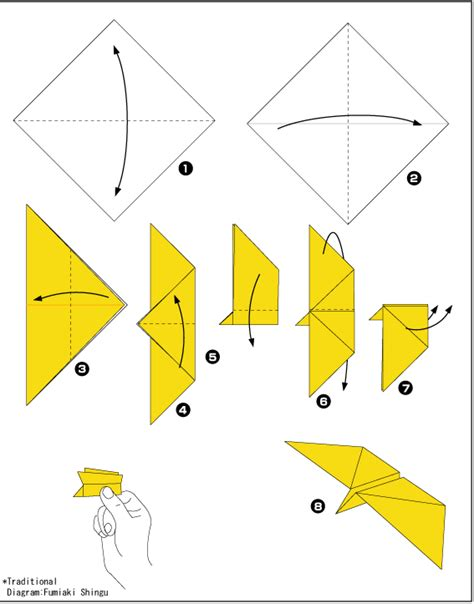 Origami Butterfly Diagram - origami butterfly scheme of paper in the