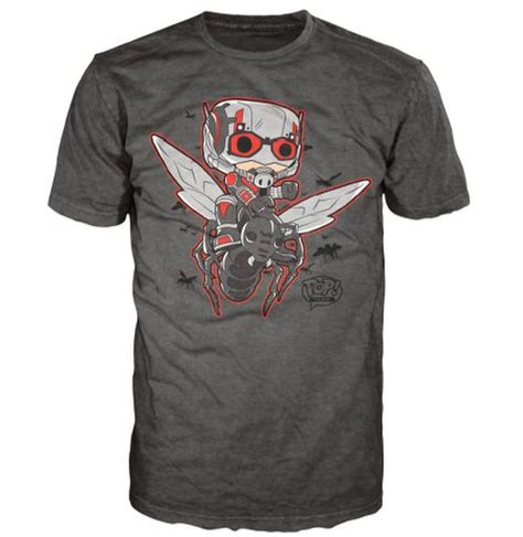 T Shirt Antman marvel ant pop t shirt grey merchandise zavvi