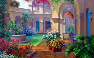 colors 3d garden wallpaper