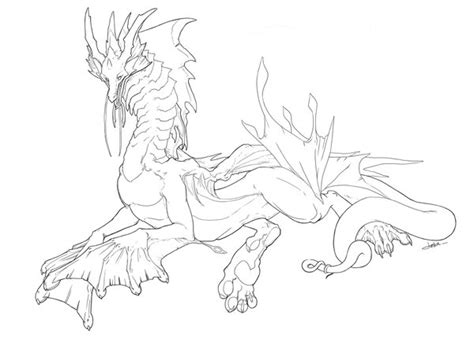 water dragons coloring pages water dragon linework by jornumgandr on deviantart