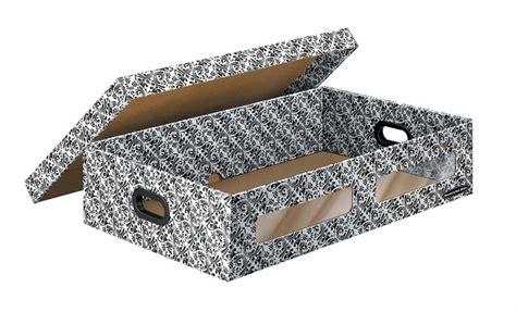 Decorative Cardboard Storage Boxes Home Organization Amazon Com Bankers Box Home Organization Under Bed