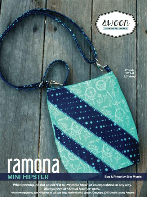 free pattern hipster bag ramona mini hipster swoon sewing patterns