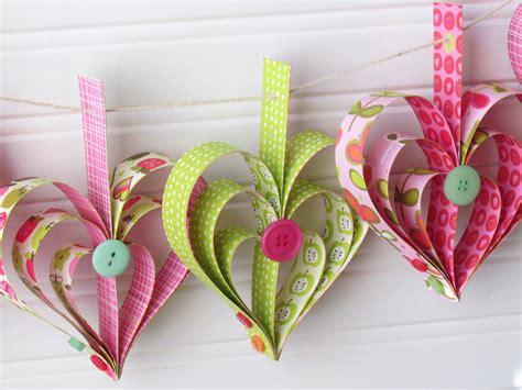 garland hearts garland tutorial ribbons glue
