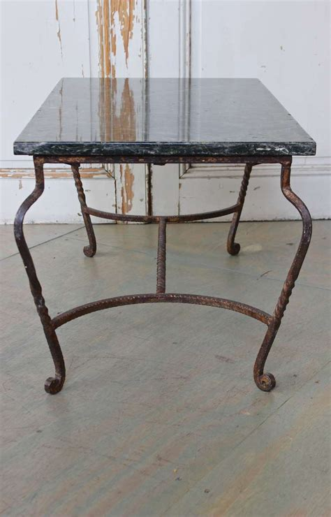 Green Marble Coffee Table Iron Coffee Table With Green Marble For Sale At 1stdibs