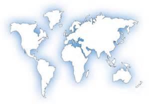 World Map Continent Outline by Worldwide Gopio Organizations