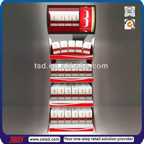 Etalase Rokok Acrylic tsd m045 customized illuminated metal tobacco cabinet