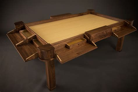 d d gaming table d d for the rich beautifully crafted gaming tables geekologie